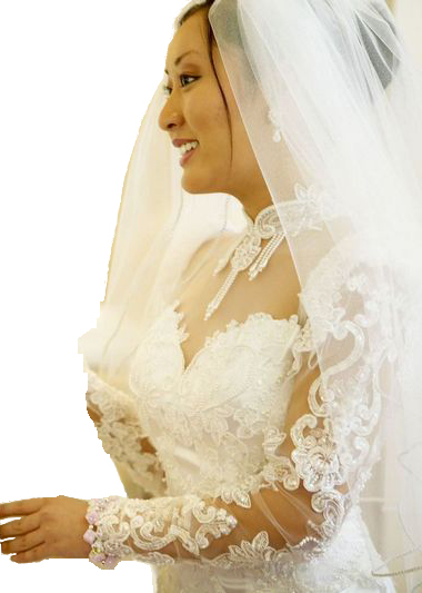bridal gown services: dry cleaning, Alterations, veil creations, fluffing and heirloom services