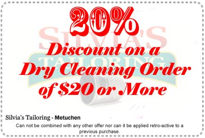 Silvia's Tailoring Store Specials - Printable Coupon  20%